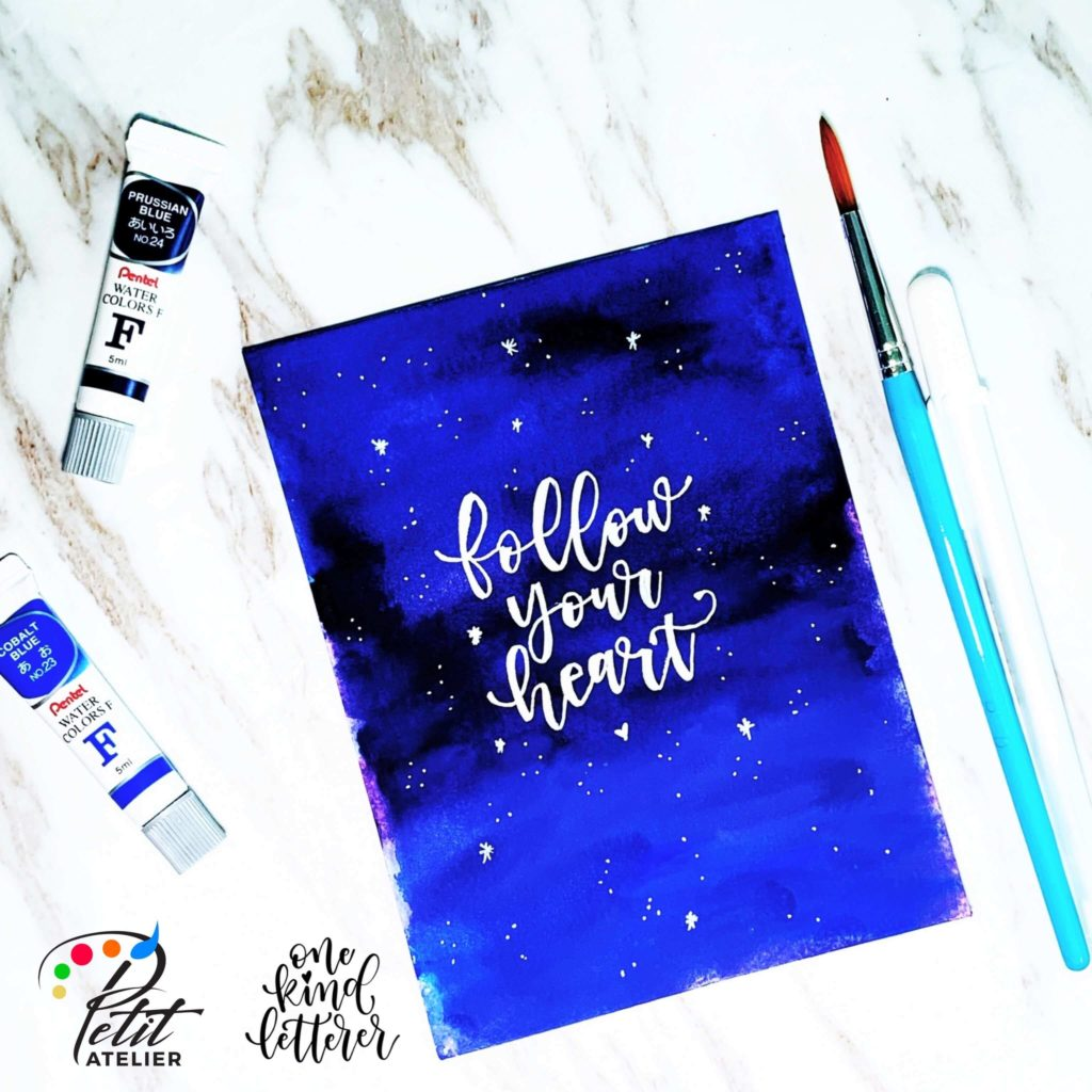 Watercolor Galaxy Backgroundd_Fauxligrapgy_one kind letterer