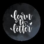 One Kind Letterer_learn to letter logo_b&w